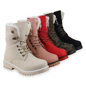 Damen-Stiefeletten-Worker-Boots-Warm-Gefuetterte-Stiefel-Outdoor-825282-Schuhe