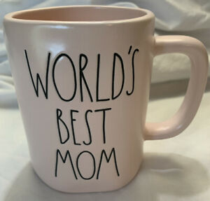 New-RAE-DUNN-Artisan-Collection-LL-034-WORLD-039-S-BEST-MOM-034-Pink-Mug-By-Magenta