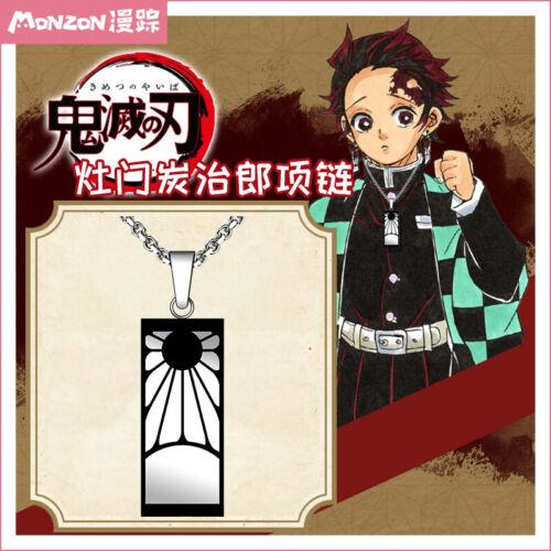 Demon Slayer Kimetsu no Yaiba Necklace Tanjirou Neck Anime Chian Charms Pendant