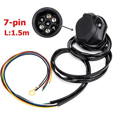 Trailer Connector Vehicle 7 Way Rv Trailer Wiring Adapter Round Wiring Adapter Ebay