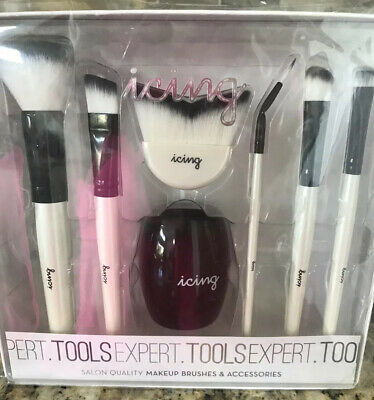Icing 6 Makeup Brush Set Brush Holder New In Package Gift Ready Gift Set Nib 24 Ebay
