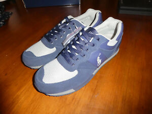 bfd30f1b13e2 Polo Ralph Lauren Slaton Pony SK ATH mens shoes sneakers new Navy   eBay