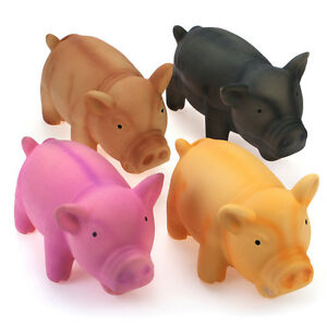 WONPET-Pet-Pig-Grunting-Animal-Squeaky-Latex-Dog-Toy-Sound-Puppy-Chew-Play-M-L