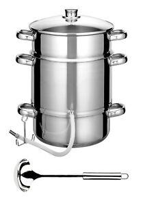 Dampfentsafter ENTSAFTER Fruchtentsafter Edelstahl INDUKTION Saftpresse 8 Liter