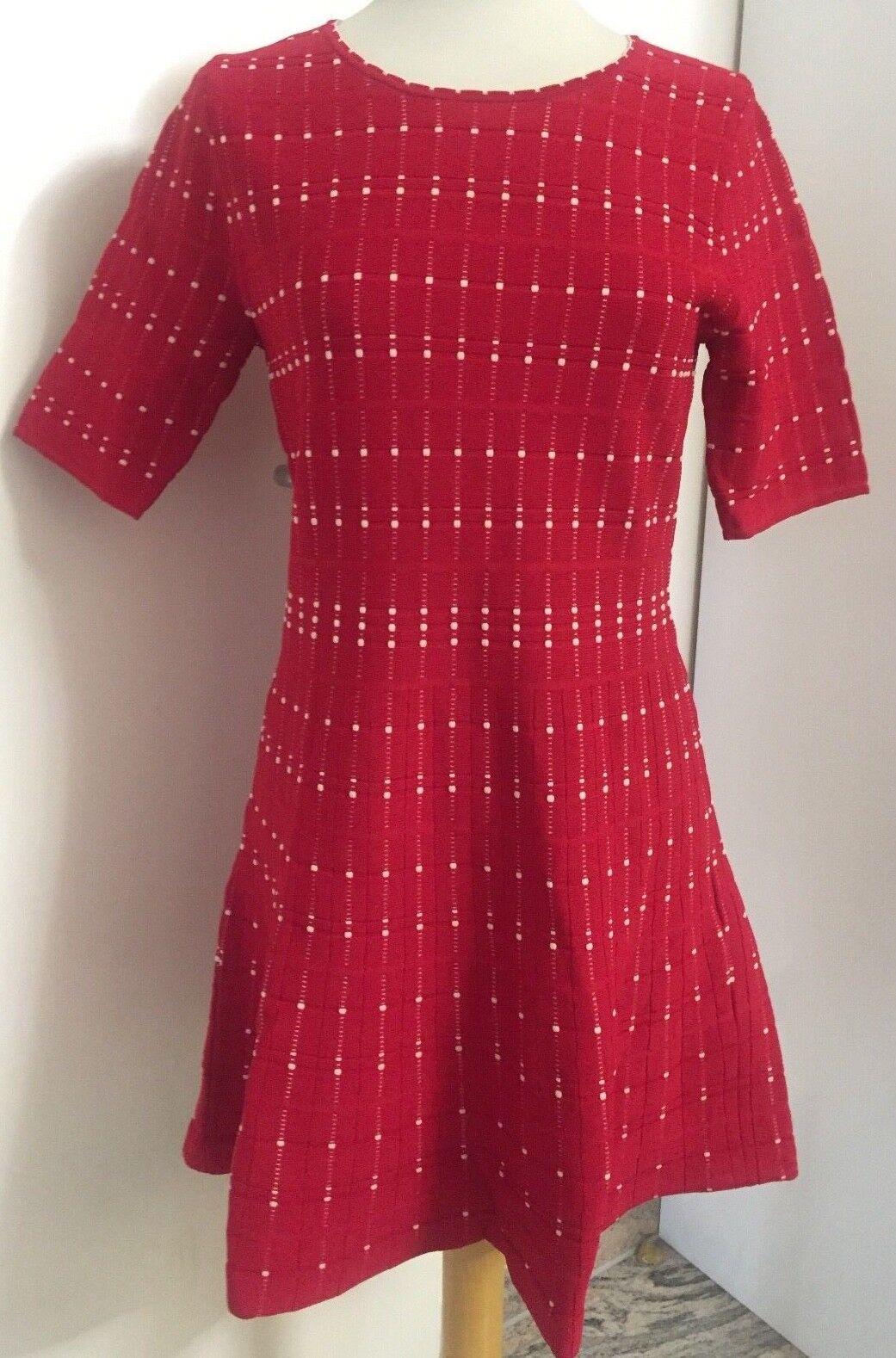 Christian Berg Bodycon Kleid Rot Weiß Gr. 40 Herve NEU mit Etikett NP 99,99
