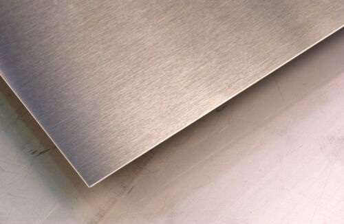"""24/"""" x 48/"""" 24 GA Alloy 304 Brushed Stainless Steel"""