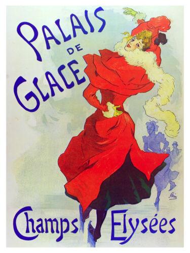 5196.Palais de Glace Nouveau Poster.Home interior design wall art.Office.Kitchen