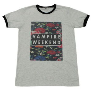 06019b73e30 VAMPIRE WEEKEND Floral Indie Rock Band Retro  GV154 Men Ringer T ...