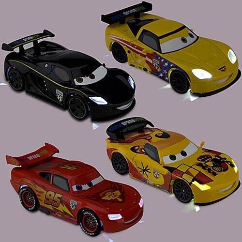 NEU  4x XXL LIGHT-UP CARS McQUEEN JEFF CORVETTE LEWIS HAMILTON & MIGUEL CAMINO  | Neuheit Spielzeug