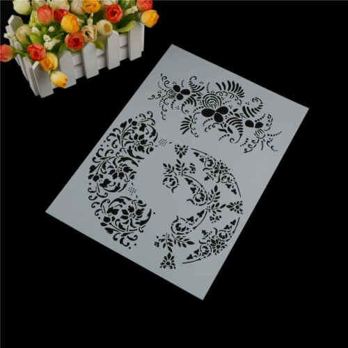 Leaf Capas Plantillas para pintura de pared álbum de recortes Stamping sello LS