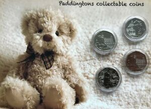STARTER-OF-SET-Paddington-set-of-4-mint-uncirculated-coins-gift-set