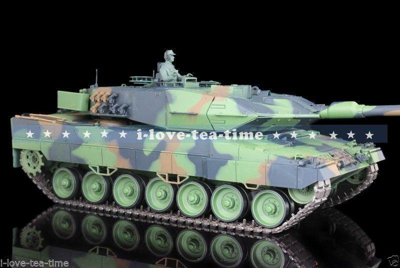 1 16 Scale 2.4G HengLong Plastic Leopard2A6 RTR RC Tank Model Sound 3889-1