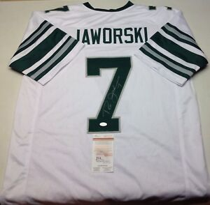 the best attitude 9b9e0 c5f22 Details about PHILADELPHIA EAGLES RON JAWORSKI SIGNED WHITE CUSTOM JERSEY  JSA