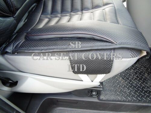 FH BLACK ROSSINI SPORTS SEAT COVERS TO FIT A FIAT DUCATO VAN 2010