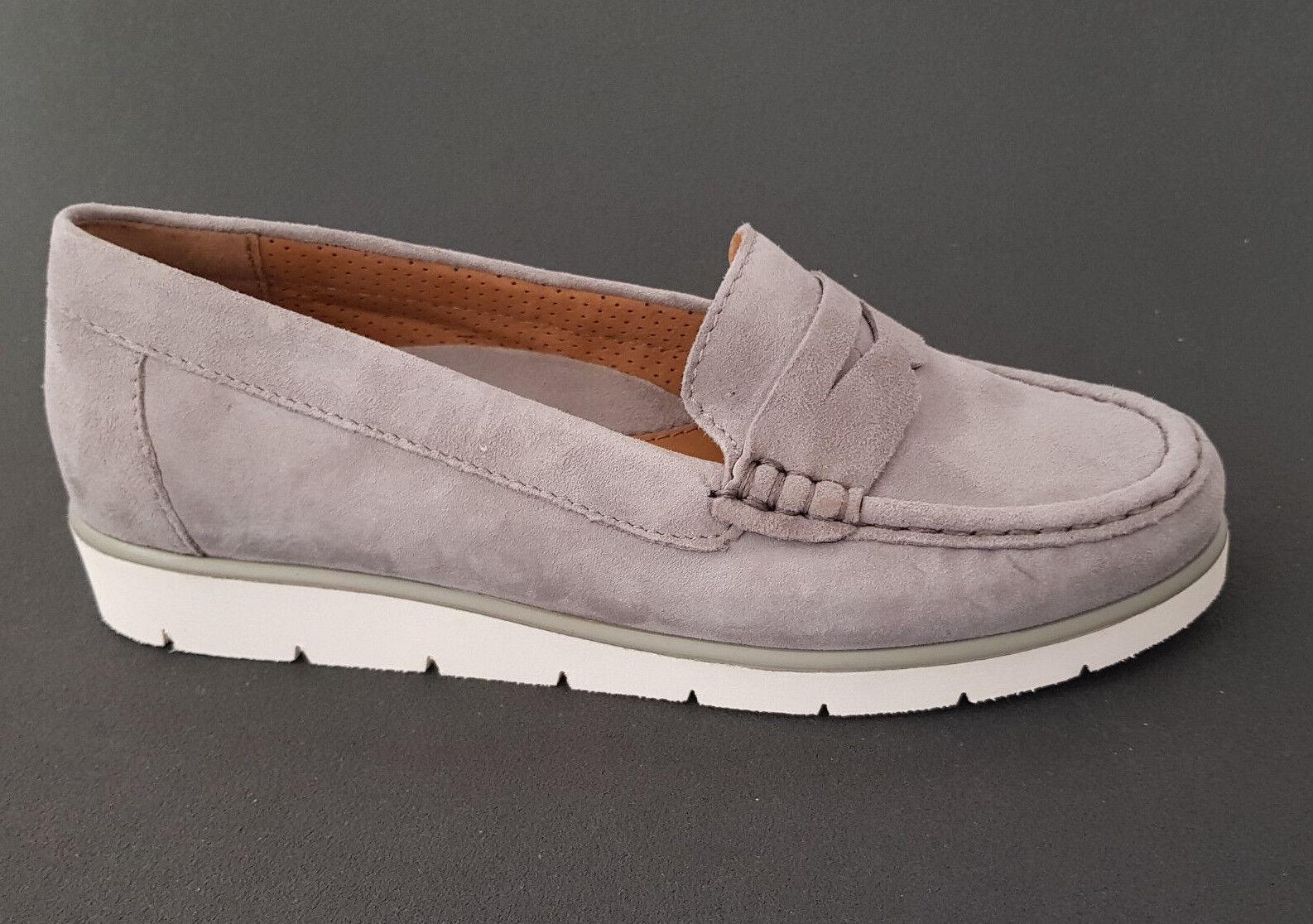 Descuento de la marca Descuento por tiempo limitado Gabor Damen Mokassin Schuhe Slipper 84.220.19 grau Leder NEU REDUZIERT