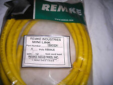 New Remke Industries 105A0120A1 5 Pole Female Automation Cable 12/' Yellow
