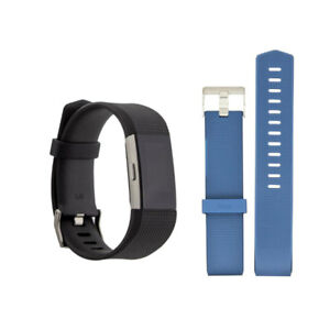 Fitbit-Charge-2-FB407SBKL-Bundle-Blue-Band-Large