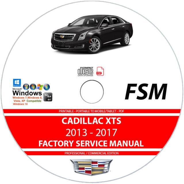 Cadillac Cts 2014 2015 2016 2017 Service Repair Manual   Wiring Diagram On Dvd
