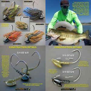 Bassdozer-MULTI-jig-3-4-oz-6-0-snagless-bass-fishing-jigs