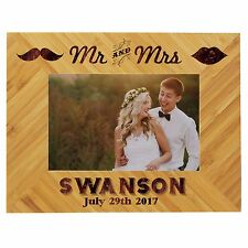 Mr Mrs Wood Personalized Frame Custom Engraved Wood Picture