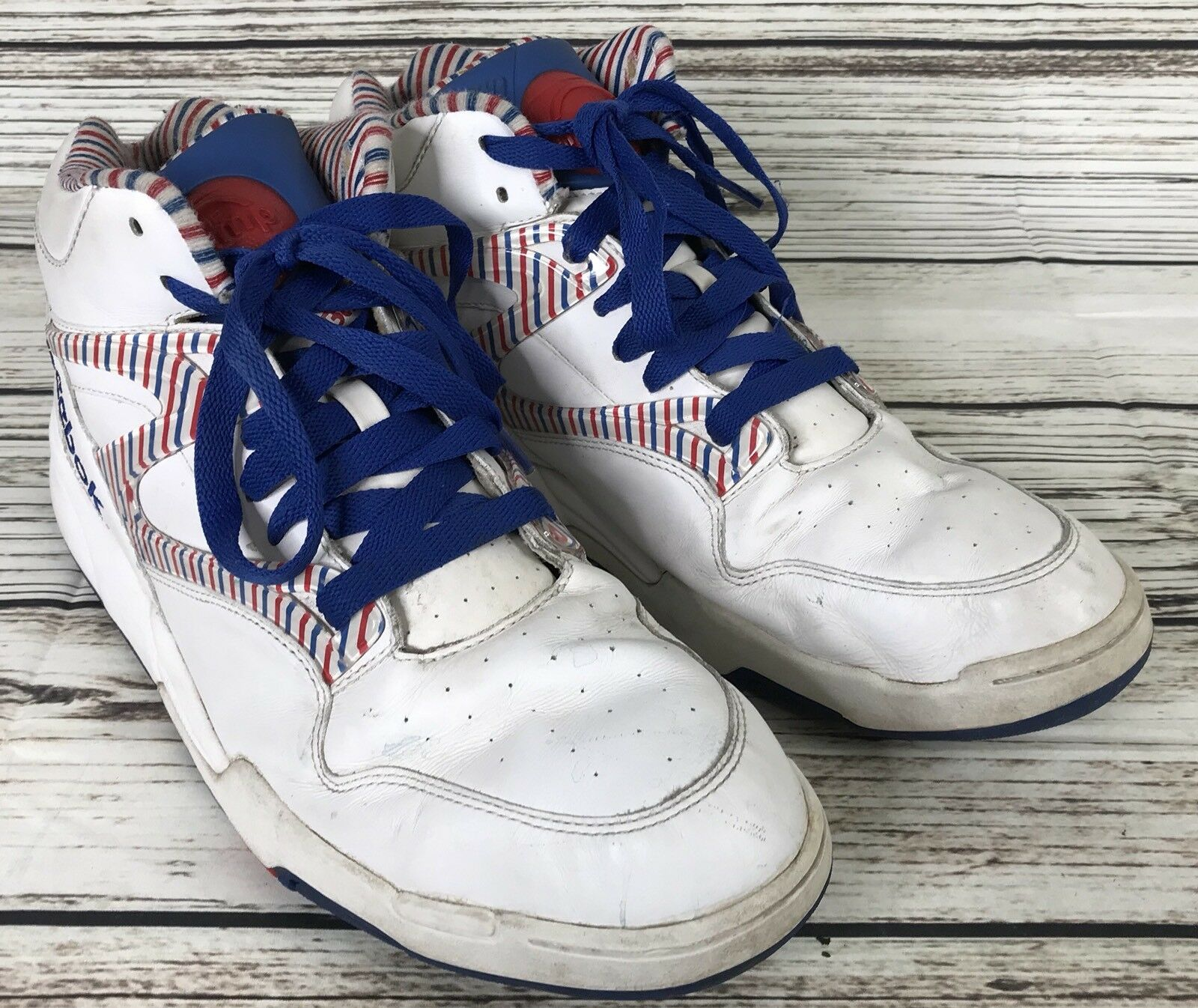 Vintage Limited Edition,  Reebok The Pump shoes,  Men's 13, Red White bluee