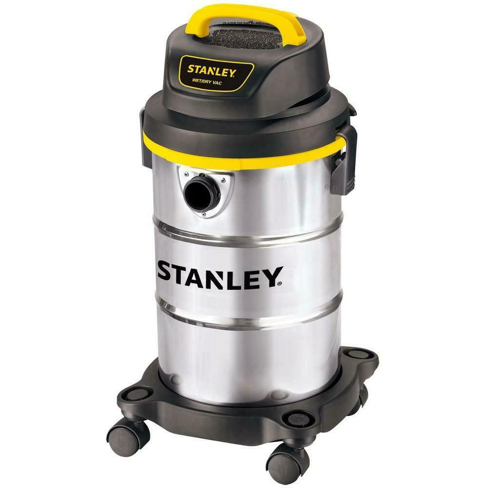 5 gal. stainless steel wet dry vacuum   stanley cleaner gallon container home