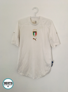 ITALY-2004-05-Home-Football-Shirt-M-L-Soccer-Jersey-PUMA-Maglia-Vintage