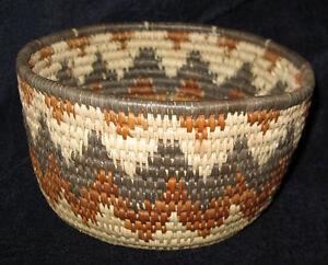 Charming-Zig-Zag-African-Zulu-Serving-Herb-Basket-Bowl