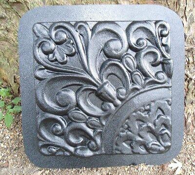 Plaster concrete abs plastic fleur de lis tile  mold stepping stone mould