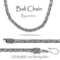 2.5 Mm - Bali - Byzantine Oxidized Sterling Silver Chain