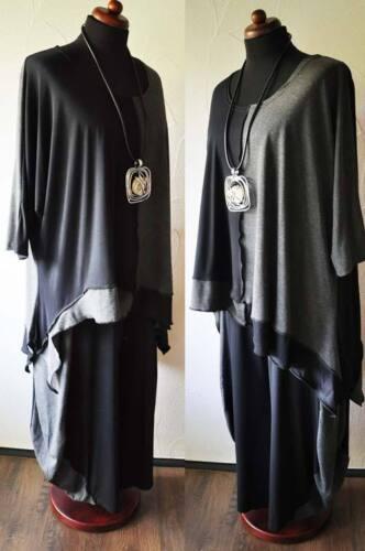 shirt Antra tunika Layered Wave Patchwork Look bånd Xxl Tip Black Xxxl Xxxxl UTUn70