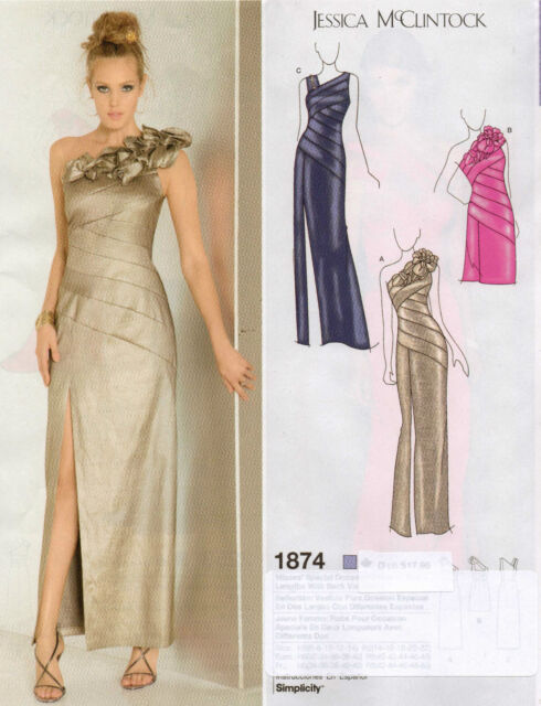 simplicity 1874 Sewing Pattern Evening Dress Gown 2 Lengths ...