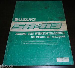 3 Anhänge Original Werkstatthandbuch Suzuki Swift AA SA 413 Grundhandbuch