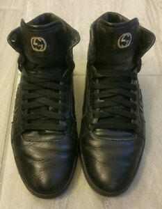 Gucci 8G Sneakers Black Red Hightop