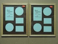 Pair Of Photo Organizer Wood Picture Frames, Hold 8 X 10 Photos