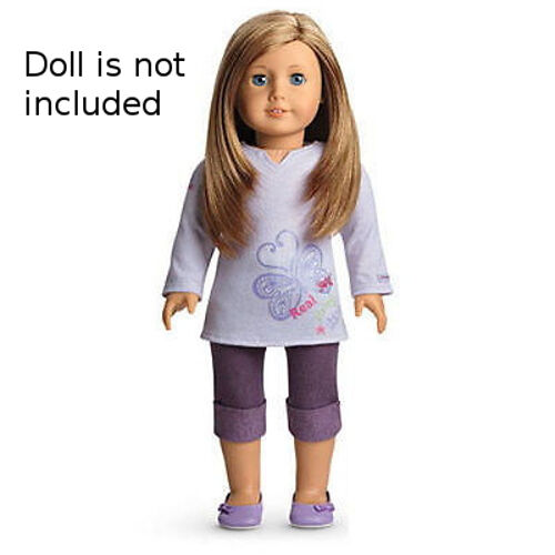 "NEW American Girl Real Me Outfit For 18/"" Blaire Doll ~Purple Top Pants Shoes~"