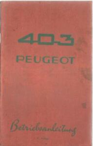 PEUGEOT-403-Betriebsanleitung-1962-Bedienungsanleitung-Handbuch-Bordbuch-BA