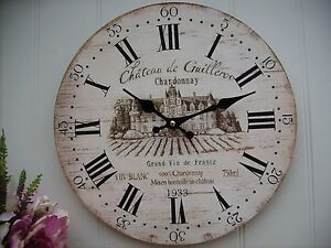 Image Is Loading French Style Shabby Vintage Wooden Wall Clock M
