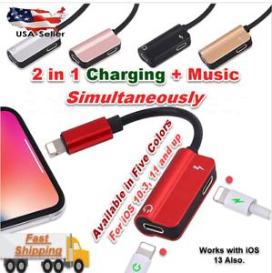 IPhone-11-XR-7-8-X-LIGHTNING-AUDIO-AUX-CUFFIE-SPLITTER-ADATTATORE-CAVO-CARICABATTERIA