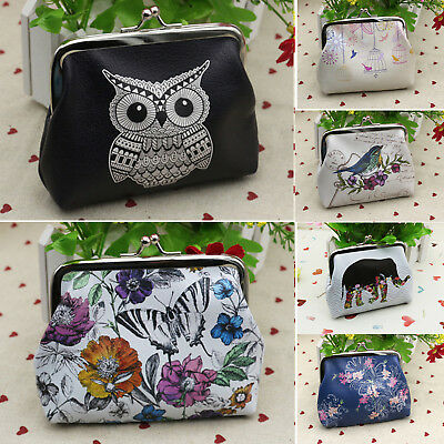 Owl handmade purse coin bag wallet with strap /& zip In various colours New