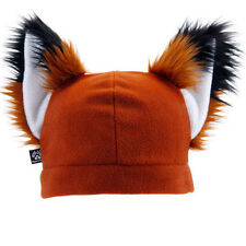 PAWSTAR FOX Hat FURRY Beanie EARS Rust Brown Realistic Natural Red [RUSTY] 1310