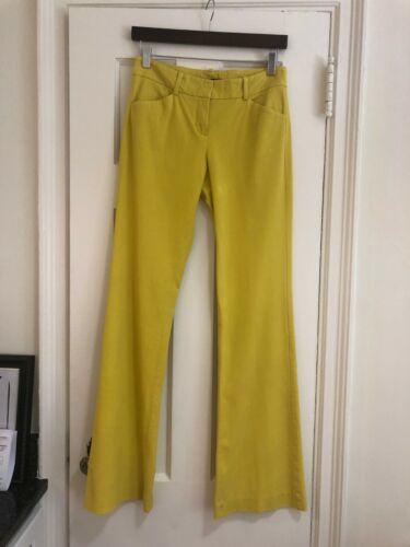 Theory Yellow Flare Pants Size 2
