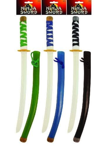 Ninja épée & gaine en plastique accessoire robe fantaisie ou jouet 55 cm random couleurs