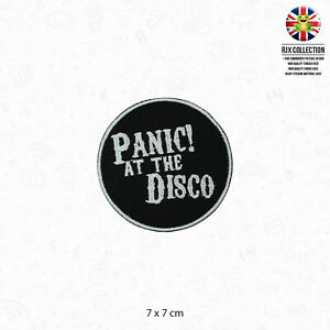 Panic At The Disco Music Band Logo Patch Iron On Patch Sew On Embroidered Patch
