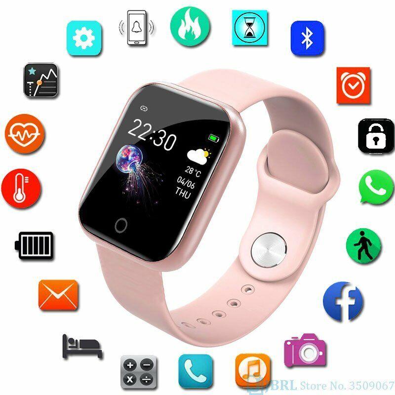 Damen Smartwatch Fitness Tracker Armband IP67 Wasserdicht Sport Uhr Bluetooth DE