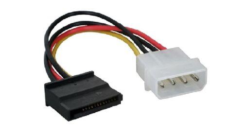 "6/"" IDE Molex 4-Pin Male to SATA 15-Pin Female Power Adapter Cable Canada"