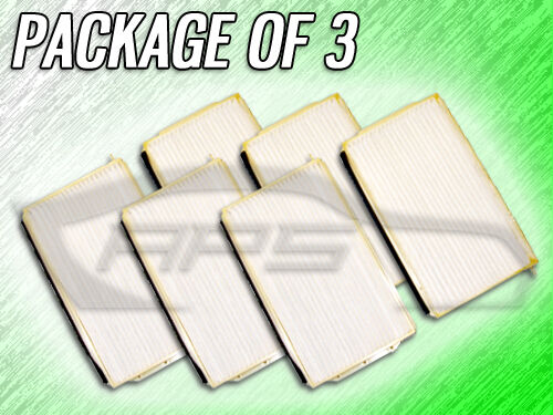C35550 CABIN AIR FILTER FOR 2001 2002 MAZDA MILLENIA PACKAGE OF THREE