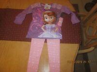 Disney Princess Sophia Top And Leggings Oufit Size 6x
