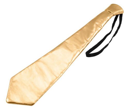 ORO LUCIDO METALLIZZATO Cravatta sul palco elastico Festa di Natale