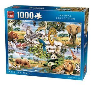 1000-Piece-Jigsaw-Puzzle-WILD-ANIMALS-Endangered-Safari-Wildlife-05481